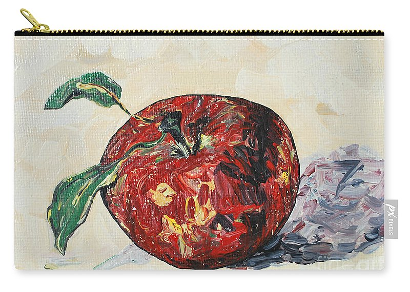 Apples Carry-all Pouch featuring the painting Pretty Apple by Reina Resto