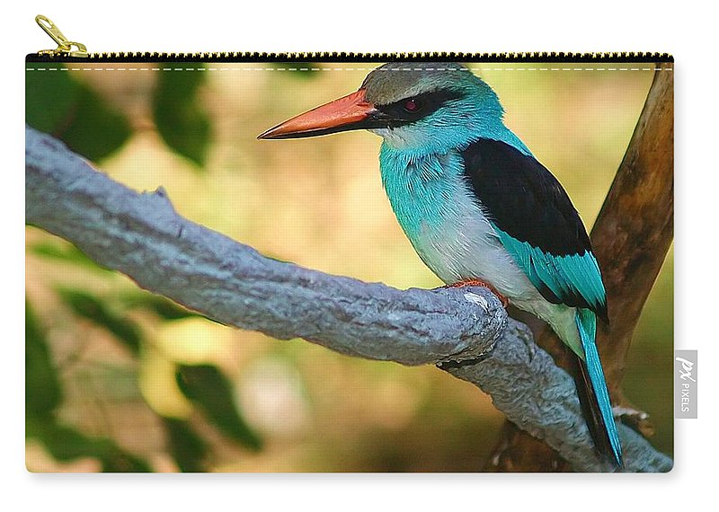 Kingfisher Carry-all Pouch featuring the photograph Pretty Bird by Gaby Swanson