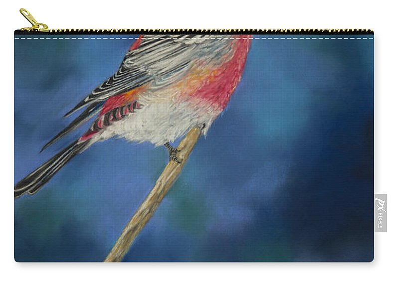 Bird Carry-all Pouch featuring the pastel Pretty Boy by Dee Carpenter