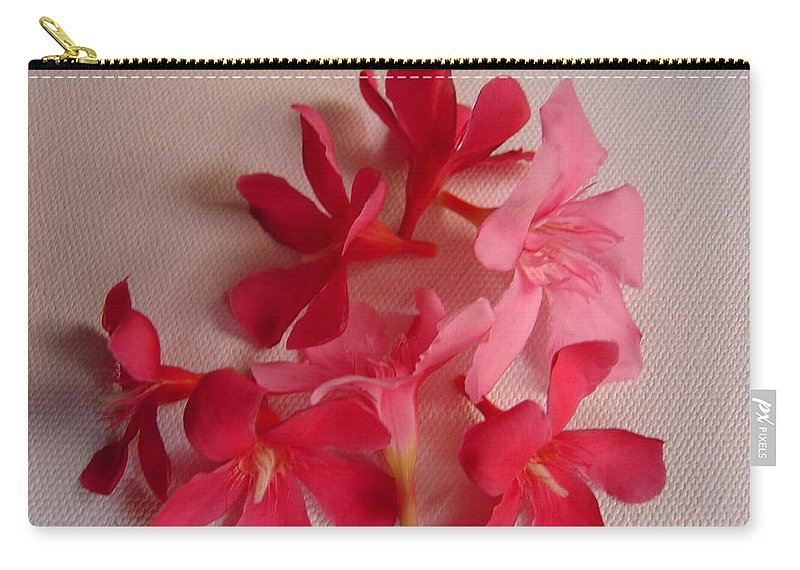 Foliage Carry-all Pouch featuring the photograph Pretty Flowers by Usha Shantharam