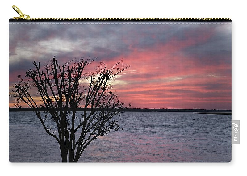 Sunset Carry-all Pouch featuring the photograph Pretty In Pink by Phill Doherty