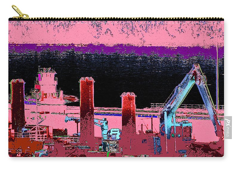 Abstract Carry-all Pouch featuring the photograph Pretty In Pink by Rachel Christine Nowicki