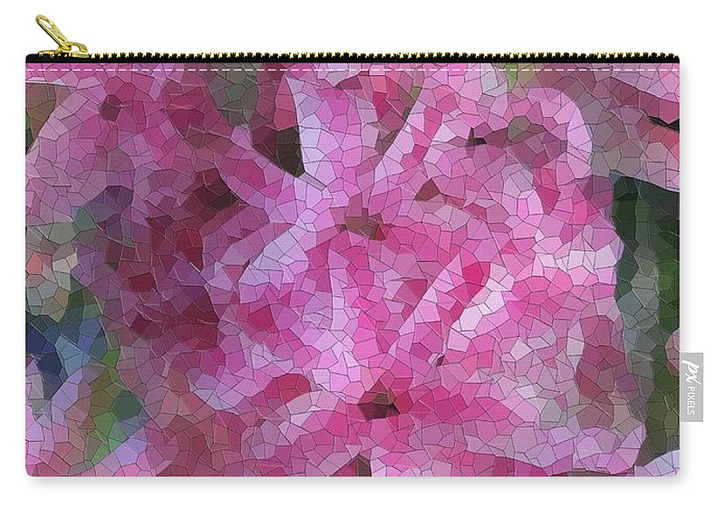 Flowers Carry-all Pouch featuring the digital art Pretty In Pink by Tim Allen