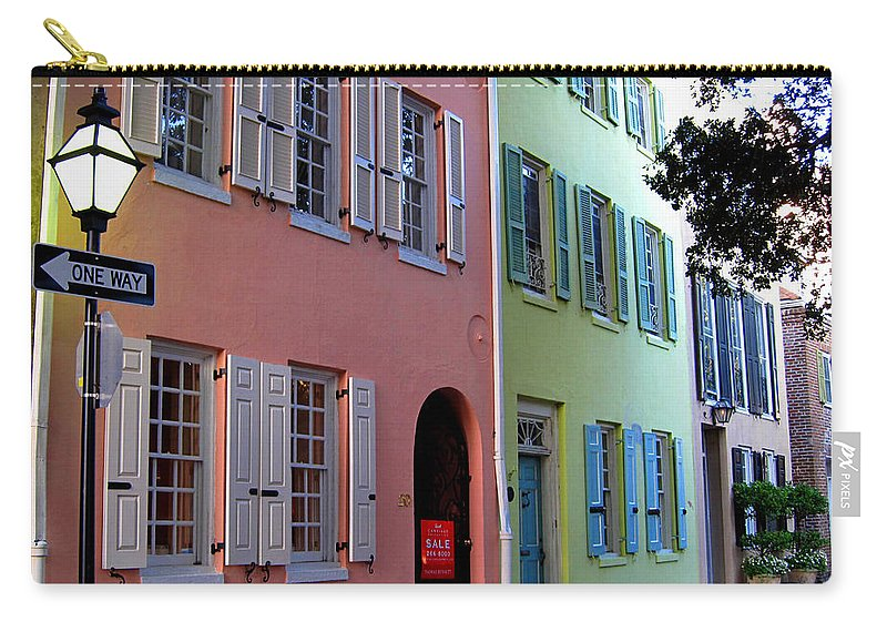 Photography Carry-all Pouch featuring the photograph Pretty Lane In Charleston by Susanne Van Hulst