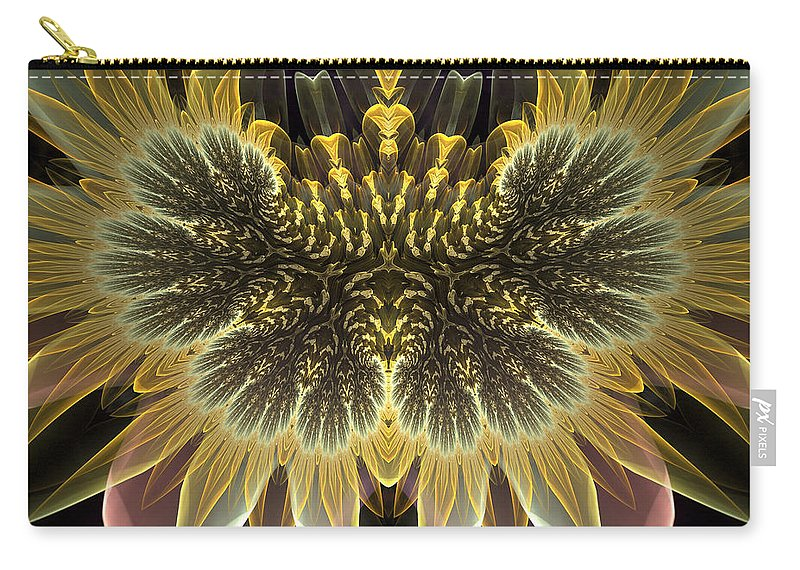 Fractal Carry-all Pouch featuring the digital art Pretty Petals by Amorina Ashton