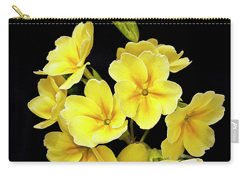 Yellow Carry-all Pouch featuring the photograph Pretty Primrose by Emma England