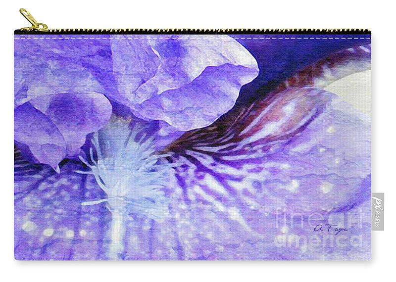 Pretty Purple Carry-all Pouch featuring the photograph Pretty Purple by Anita Faye