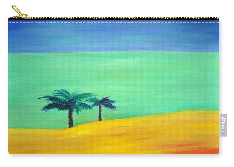 Blue Carry-all Pouch featuring the painting Pretty Simple by Gina De Gorna