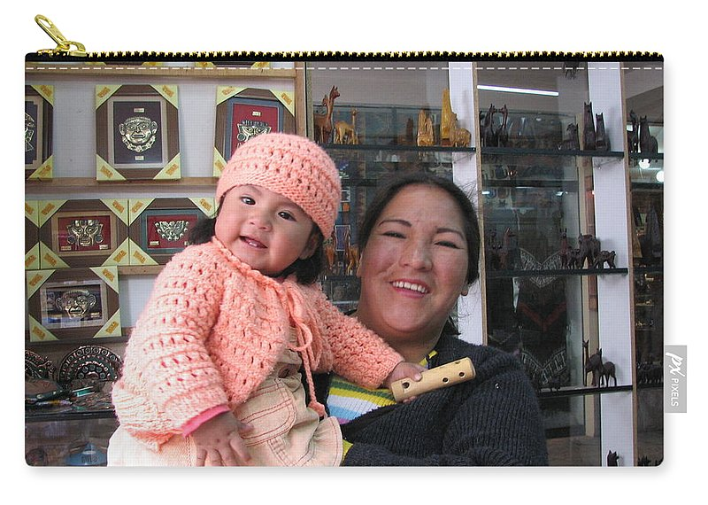 Portrait Carry-all Pouch featuring the photograph Pride And Joy by Sandra Bourret