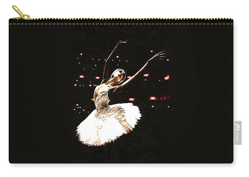 Prima Ballerina Carry-all Pouch featuring the painting Prima Ballerina by Richard Young