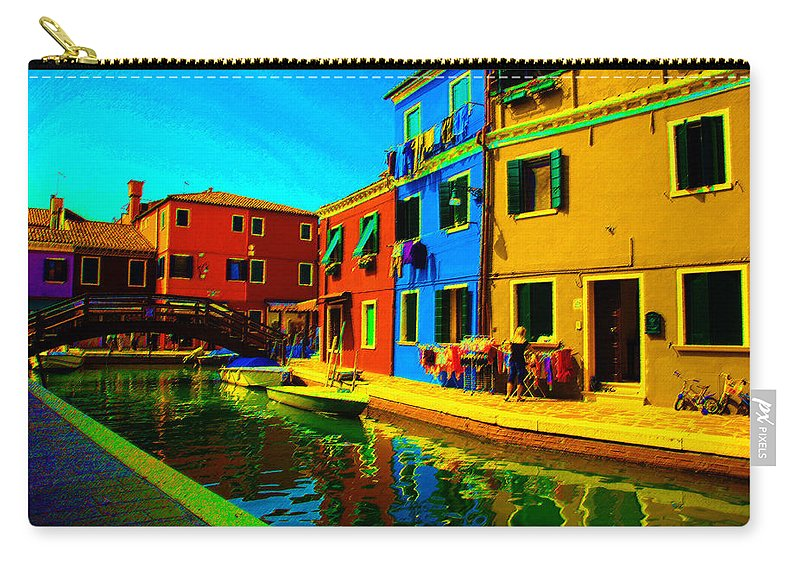 Burano Carry-all Pouch featuring the pastel Primary Colors 2 by Donna Corless