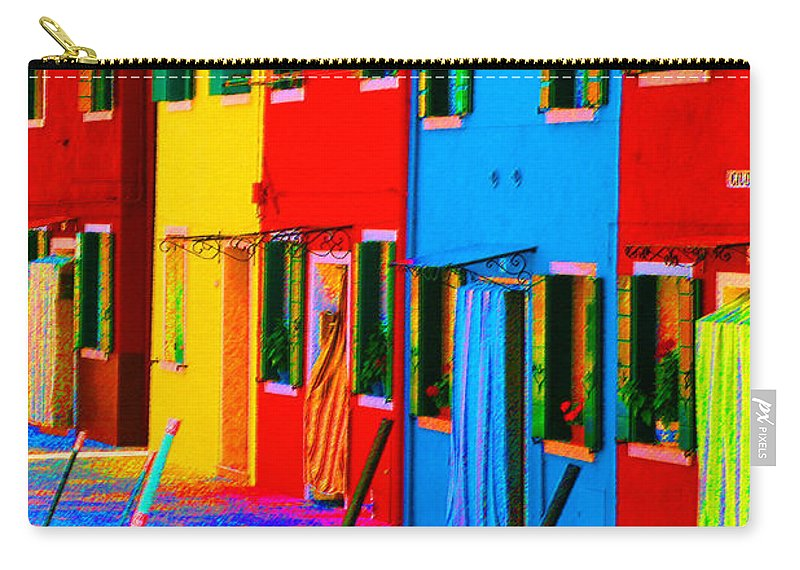 Burano Carry-all Pouch featuring the photograph Primary Colors Of Burano by Donna Corless