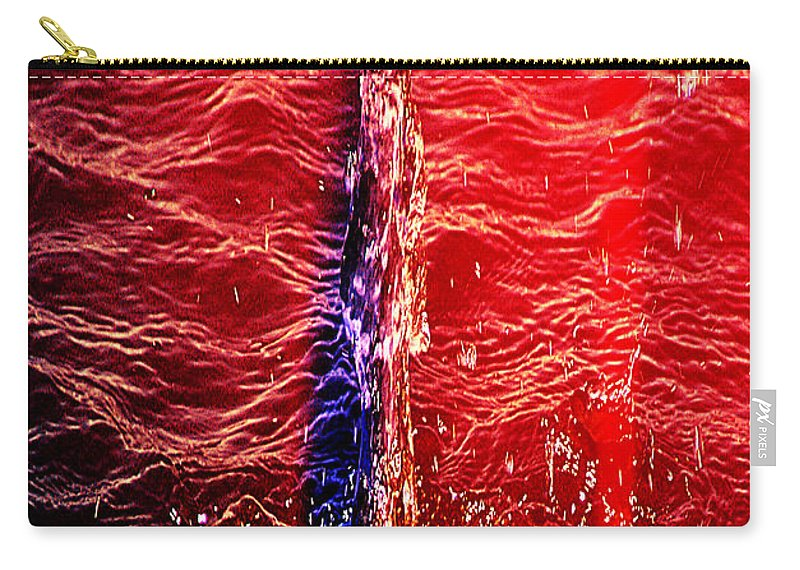 Clay Carry-all Pouch featuring the digital art Primary Drip by Clayton Bruster