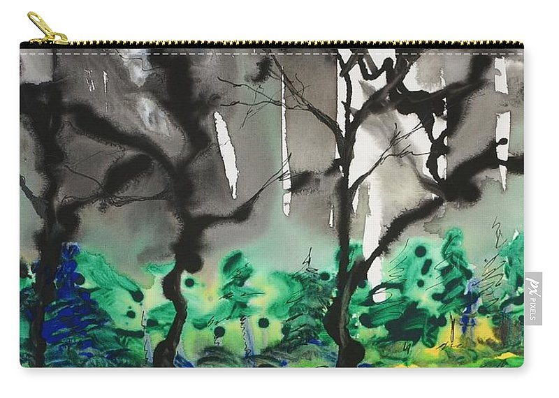 Forest Carry-all Pouch featuring the painting Primary Forest by Nadine Rippelmeyer