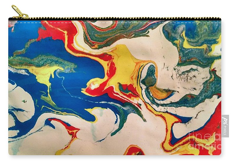 Carry-all Pouch featuring the painting Primary Splash by Barbra Kotovich