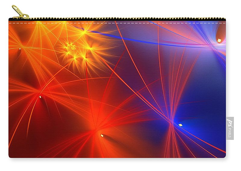 Apophysis Carry-all Pouch featuring the digital art Primary Wishes by Kim Sy Ok