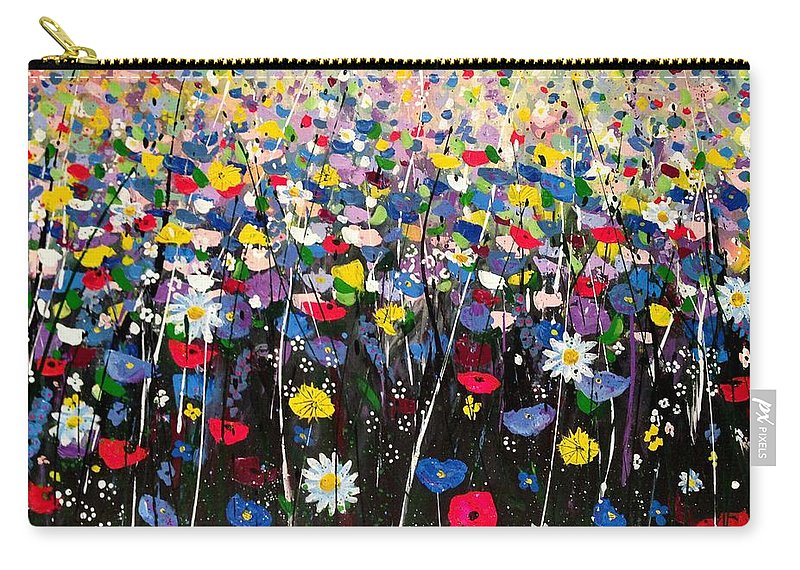 Art Carry-all Pouch featuring the painting Primavera by Angie Wright
