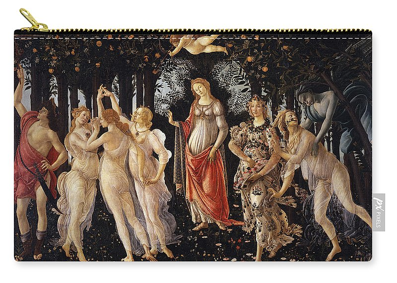 Sandro Botticelli Carry-all Pouch featuring the painting Primavera by Sandro Botticelli