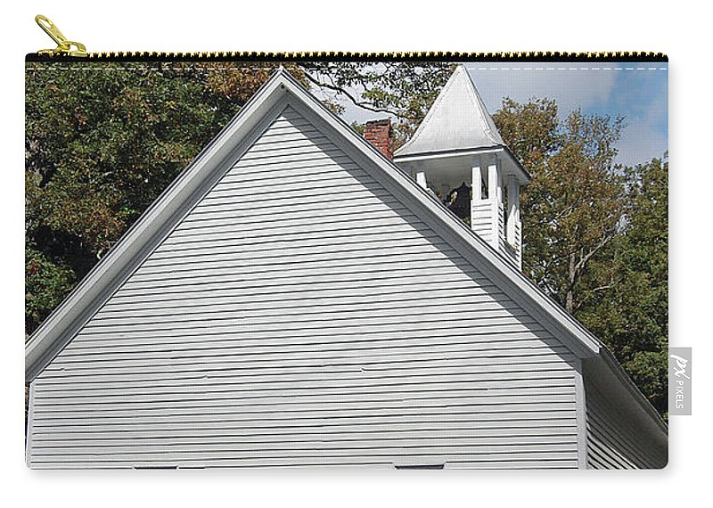 Cades Cove Carry-all Pouch featuring the digital art Primitive Baptist Church Est 1827 by DigiArt Diaries by Vicky B Fuller
