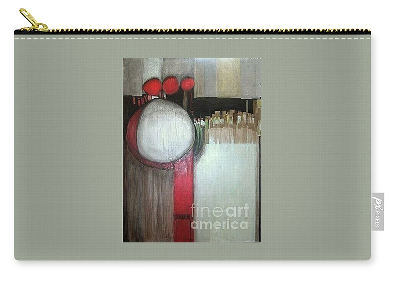 Abstract Carry-all Pouch featuring the painting Primordial by Marlene Burns