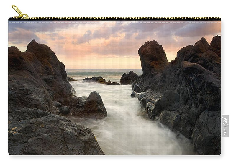 Sunrise Carry-all Pouch featuring the photograph Primordial Tides by Mike Dawson