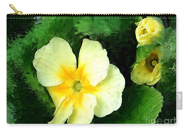 Digital Photograph Carry-all Pouch featuring the photograph Primrose 2 by David Lane