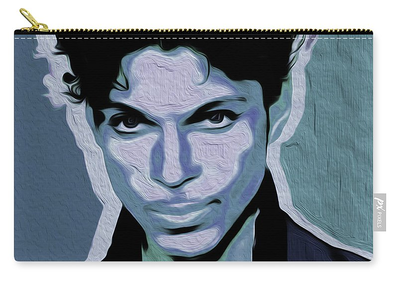 Prince Rogers Nelson Carry-all Pouch featuring the painting Prince #05 Nixo by Never Say Never