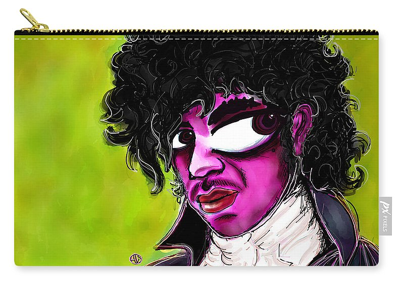 Prince Carry-all Pouch featuring the digital art Prince by Angie Snapp