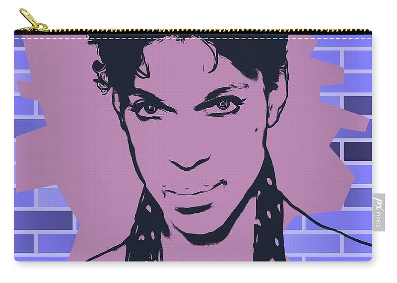 Prince Graffiti Tribute Carry-all Pouch featuring the digital art Prince Graffiti Tribute by Dan Sproul
