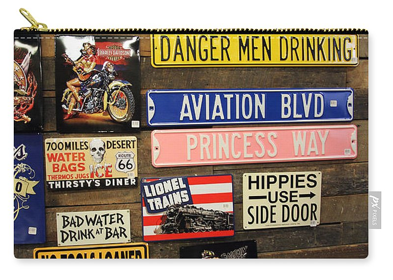 Signs Carry-all Pouch featuring the photograph Princess Way by Jennifer Robin