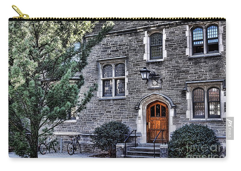 Princeton Carry-all Pouch featuring the photograph Princeton University Little Hall by Olivier Le Queinec