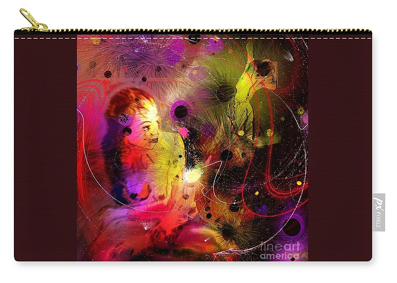 Nudes Carry-all Pouch featuring the painting Prisoner Of The Past by Miki De Goodaboom