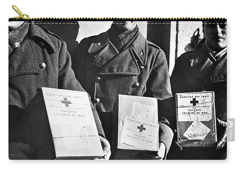 1942 Carry-all Pouch featuring the photograph Prisoners Of War, C1942 by Granger