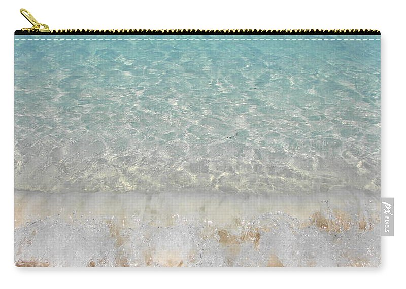 Caribbean Carry-all Pouch featuring the photograph Pristine Beach At Half Moon Cay by Margaret Bobb