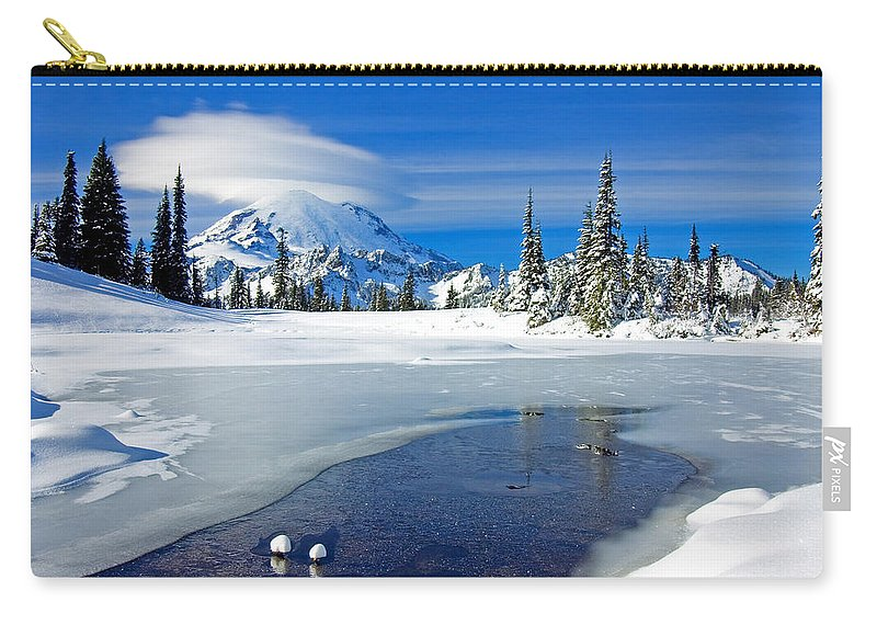 Rainier Carry-all Pouch featuring the photograph Pristine by Mike Dawson