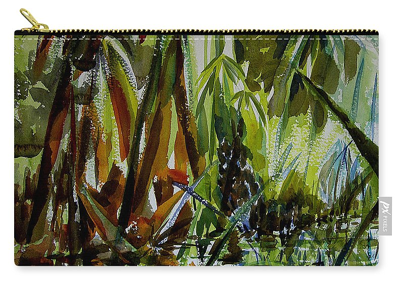 Framed Prints Carry-all Pouch featuring the painting Pristine Waters by Julianne Felton
