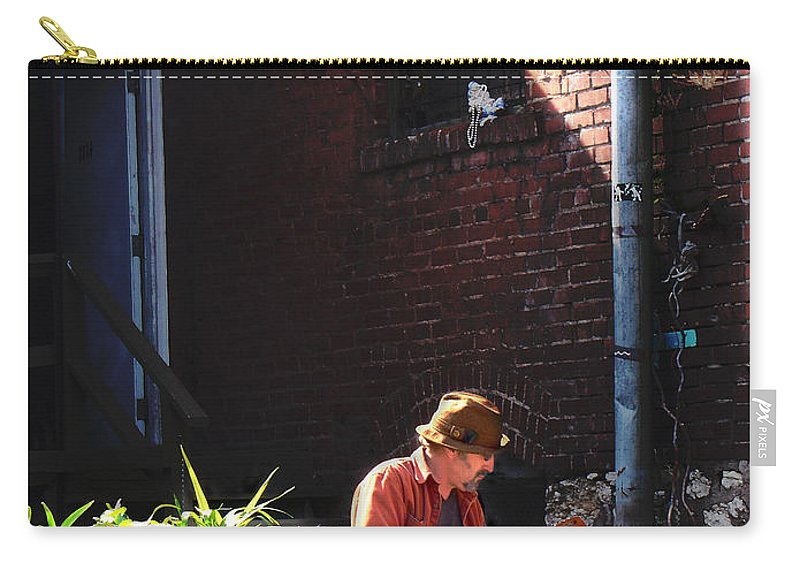 City Scape Carry-all Pouch featuring the photograph Private Parking by Steve Karol