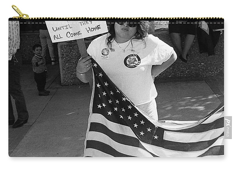 Pro Desert Storm Rally Tucson Arizona 1991 Carry-all Pouch featuring the photograph Pro Desert Storm Rally Tucson Arizona 1991 by David Lee Guss