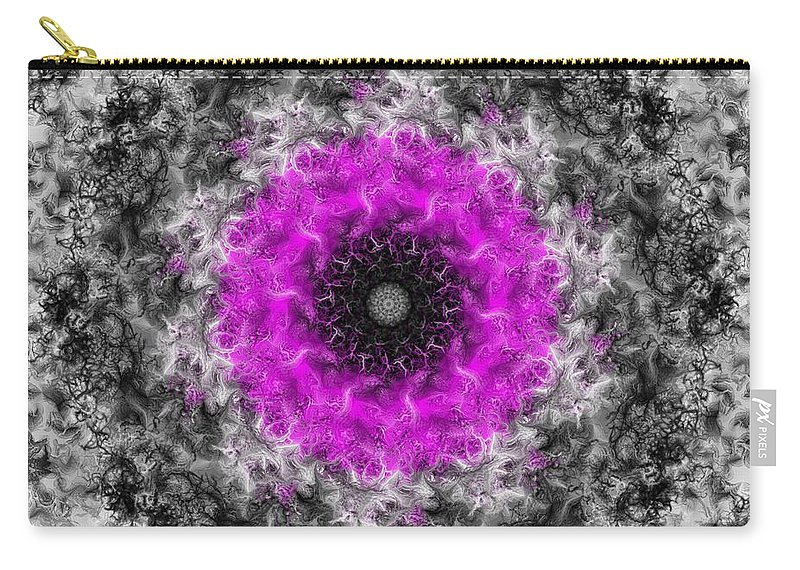 Fine Art Carry-all Pouch featuring the digital art Probability Flower by David Lane