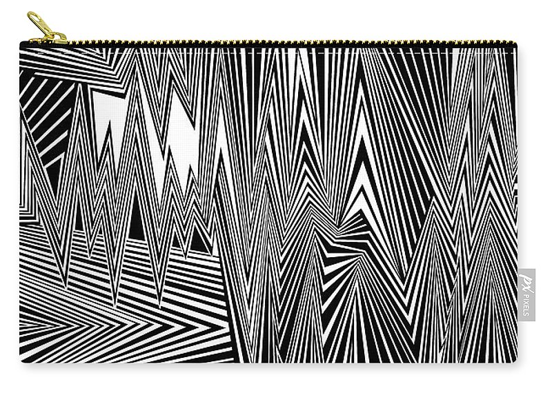 Dynamic Black And White Carry-all Pouch featuring the painting Probable Causes by Douglas Christian Larsen