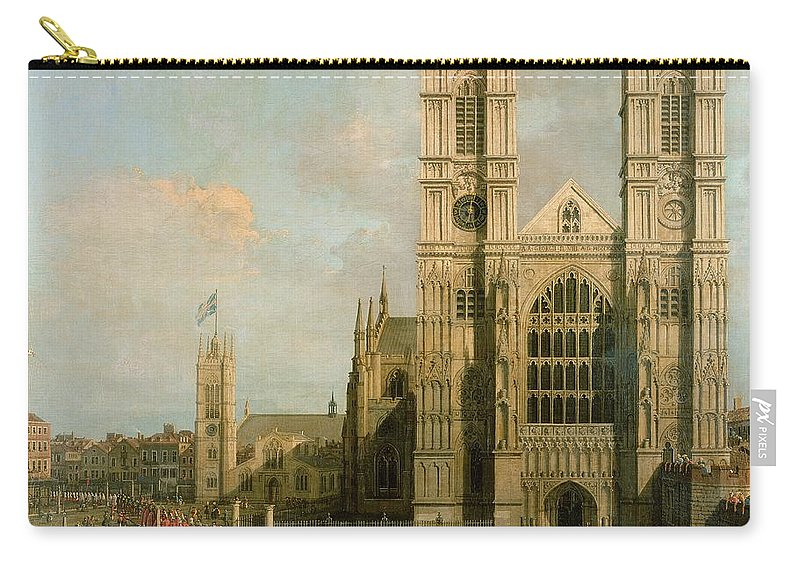 Canaletto Carry-all Pouch featuring the painting Procession Of The Knights Of The Bath by Canaletto