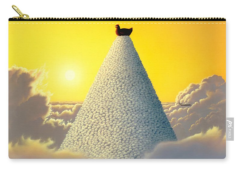 Chicken Carry-all Pouch featuring the painting Productivity by Jerry LoFaro