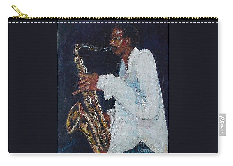 Palette Knife Carry-all Pouch featuring the painting Proffessor Daddyo by Beverly Boulet