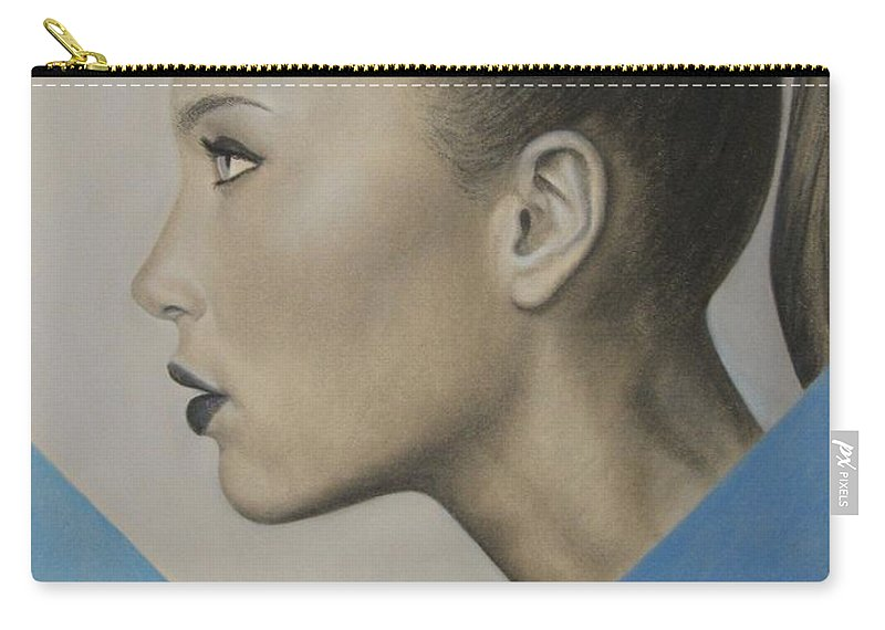 Woman Carry-all Pouch featuring the painting Profile by Lynet McDonald