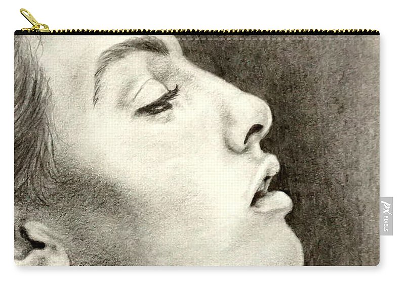 Artwork Carry-all Pouch featuring the drawing Breathless by Georgia's Art Brush