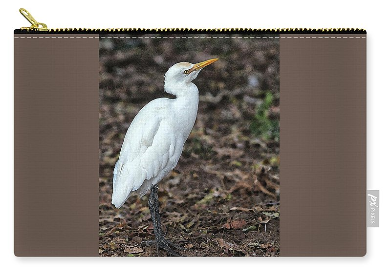 Egret Carry-all Pouch featuring the digital art Profile of an Egret by Sandeep Gangadharan