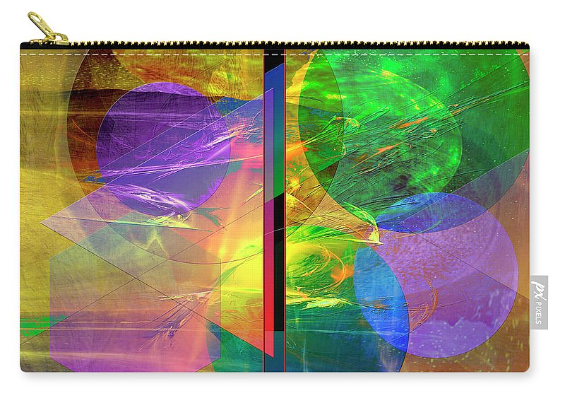 Progressive Intervention Carry-all Pouch featuring the digital art Progressive Intervention by John Beck