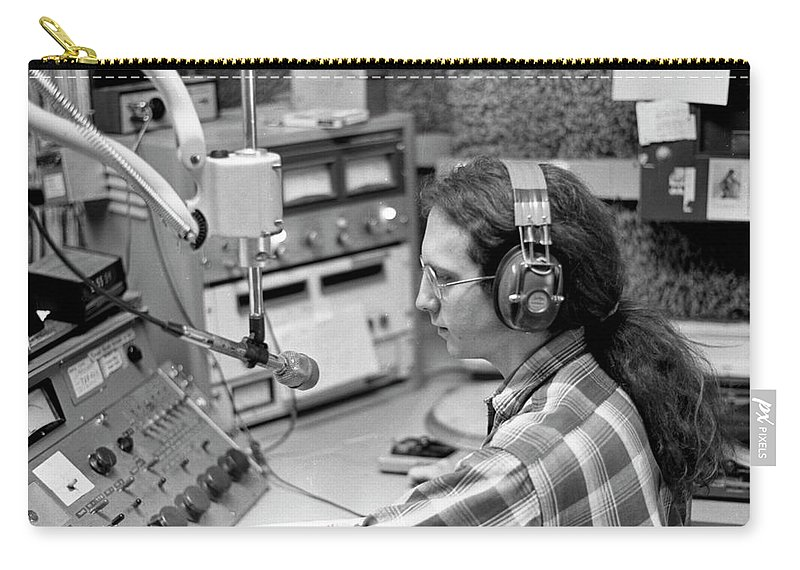 Wbru Carry-all Pouch featuring the photograph Progressive Rock Disc Jockey, 1975 by Jeremy Butler