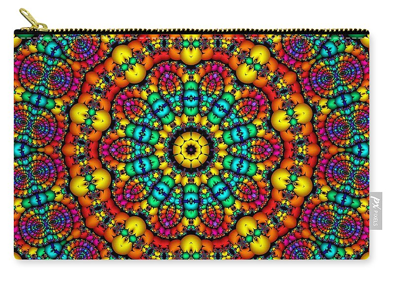 Colorful Carry-all Pouch featuring the digital art Progressive Thinking by Robert Orinski