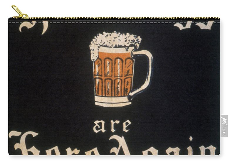 18th Amendment Carry-all Pouch featuring the photograph Prohibition: Repeal, C1933 by Granger